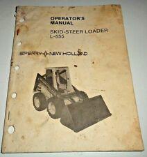 New Holland L 555 Skid Steer Loader Operators Owners Manual Original Nh 482