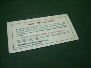 WW1 Birds Custard Egg Substitute Xmas Festive Recipe Plum Pudding Cooking Sheet