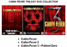 CABIN FEVER TRILOGY COLLECTION PART 1 2 3 BRAND NEW AND SEALED UK REGION 2 DVD