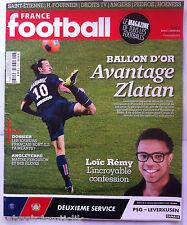 FRANCE FOOTBALL du 11/03/2014; Zlatan Ballon d'or ?/ Loïc Rémy/ Ribas/ Pédros