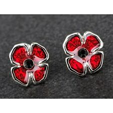 Equilibrium Silver Plated Poppy Stud Earrings 279407