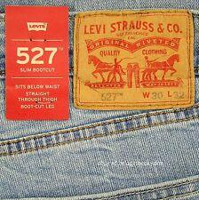 Levis 527 Jeans Mens New Slim Boot Cut Size 30 x 32 BLUE STONE Levi's NWT #285
