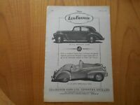 Vintage Lea-Francis Four-light Saloon Advert -- Original -- from 1952