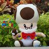 "Nintendo Super Mario Bros Plush Toy Toad Toadsworth 10"" Stuffed Animal Soft Doll"
