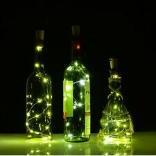 3X Cork Shaped  LED Night Light Starry Lights Wine Bottle Lamp For Wedding Party