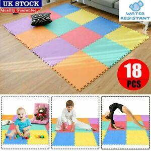 Large Yoga Mat Interlocking Tile Non Slip Floor Mat Gym Exercise Fitness Pilates