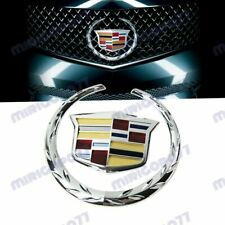 Silver Front Grille Ornament Emblem Badge Sticker for Cadillac Escalade SRX CTS