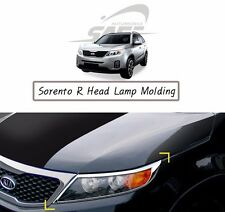 SAFE Chrome Head Lamp Molding 2Pcs For KIA Sorento R 2011 2014
