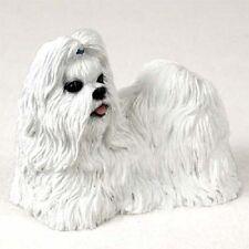 Shih Tzu Dog Hand Painted Figurine Resin Statue Collectible White Puppy Shihtzu