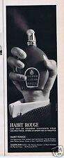 Publicité Advertising 026 1966 Guerlain l'Habit rouge eau de Cologne