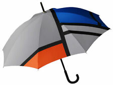 Modern Unisex Stick Umbrella inspired by Artist Piet Mondrian's Composition