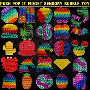 Fidget toys Push over it Pop Sensory Bubble it Stress Relief Silicone Games NEW