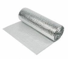 1.2m x 50m Yuzet Double Aluminium Bubble Foil Insulation Loft Wall Home Caravan