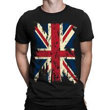 Vintage Distressed Union Jack Flag Great Britain Short Sleeve Men's T-Shirt