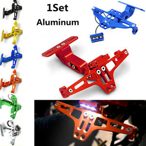1* Bracket Rear Light Fender Eliminator Kit Motorcycle CNC License Plate Holder
