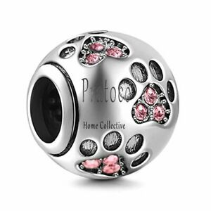 Authentic Pandora Charms Dog Paw Print Charms 925 Sterling Silver Animal Pendant
