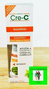 Shampoo 1 Cre-C Lunes,Miercoles,Viernes Bifasico Contrala Caida D Cabello 250ML