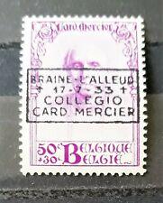 COB/OBC 374B * MH - Cardinal Mercier 50c+30c surcharge Braine-l'Alleud cote 25€