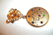 Locket & Simmons Rfs Co. Locket Watch Pin Antique W & H Co. Gold Plated Picture
