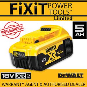 DeWalt DCB184 18v 5.0Ah Li-Ion Battery XR Range Lithium Ion Genuine 5 Amp RW
