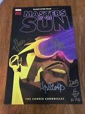 Black Eyed Peas MASTERS OF THE SUN SIGNED Poster NYCC Will I Am Taboo Wyclef 5x