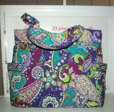 VERA BRADLEY HEATHER RETIRED SOLD OUT PLEATED SHOULDER TOTE NWT