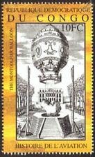 Montgolfier balloon flight (histoire de l'AVIATION) CACHET (2001 Congo)