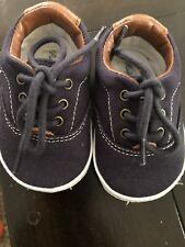 Ralph Lauren Navy Crib Shoes