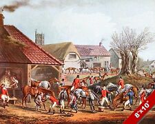CONSEQUENCES OF FOXHUNTING FOX HUNT HORSE HUNTING ART PAINTING REAL CANVAS PRINT