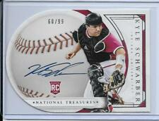 2016 NATIONAL TREASURES KYLE SCHWARBER AUTOGRAPH #D/99 HOOSIERS CHICAGO CUBS