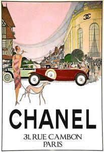 Haute Couture Chanel Paris  Art Poster Print