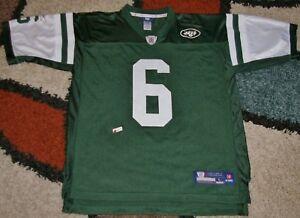New York Jets Reebox #6 Mark Snachez NFL Equipment Jersey Green Size Large 2nd