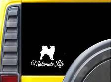 Malamute Life Sticker k700 6 inch alaskan sled dog decal