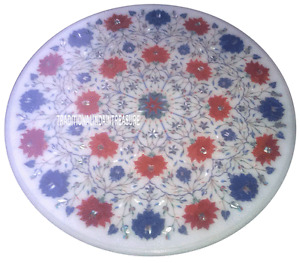 """20"""" Marble Coffee Center Table Top Marquetry Inlay Occasional Furniture Decor"""