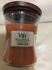 Woodwick Pumpkin Pecan 9.7oz Candle NEW!  Free Shipping Yankee Medium