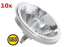 10x AR111 G53 Halogen Aluminium Reflector 75W 12V Reflektor Lampe 8°  10-Stück