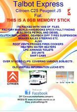 Talbot Express Citroen C25 Peugeot J5 Fiat Manuals Guides Workshop Memory Stick