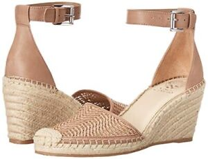 NEW Vince Camuto Women's VALISSA Heeled Sandal TAUPE TINT WOVEN ESPADRILLE 10