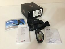 Polar Men's RS100 BLK Digital Heart Rate Monitor Watch Black Rubber Strap IN BOX