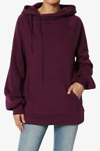 TheMogan S~3X Drawstring Cozy Fleece Relaxed Fit Hooded Pullover Sweatshirts NEW