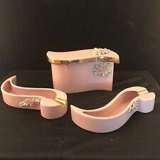 Vintage Mid Century Porcelain Ashtrays & Cigarette Box Set Beebe of California