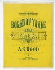 NH PUBLISHED Sheet Music 1891 Board Of Trade March MANCHESTER