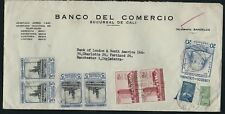 COLOMBIA 1955 Airmail Cover to England BANK of London & South America
