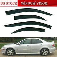 4x Window Visors Sun Shade Rain Guard Visor Fit For Mazda 6 Sedan 2002-2007
