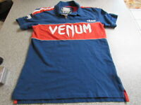VENUM TEAM POLO SHIRT SIZE SMALL MMA UFC BJJ MUAY THAI KICK BOXING GYM MENS