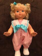 "Vintage Hasbro Doll Wanna Walk Crawl 16"" 1991 Original Clothes - MINT"