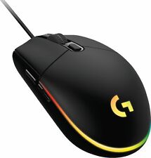 Logitech - G203 LIGHTSYNC Wired Optical Gaming Mouse - Black