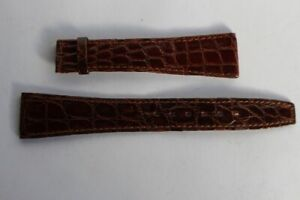 OMEGA Bracelet pour montre croco brun 19 mm (39931)