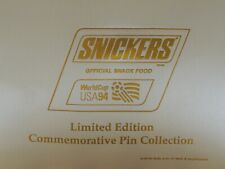 1994 SNICKERS WORLD CUP LIMITED EDITION COMMEMORATIVE PIN SET
