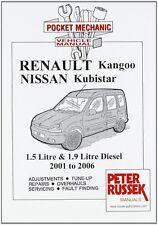 RENAULT KANGOO NISSAN KUBISTAR 1.5 1.9 DIESEL 2001 - 2006 CAR MANUAL